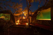 Family-tent-at-night